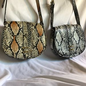 2 NM Faux Leather Python Crossbody Bags